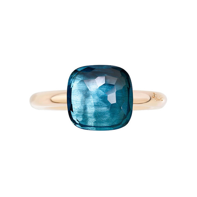 "London Blue Topaz ""Nudo"" Ring"