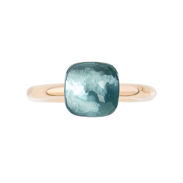 "Small Blue Topaz ""Nudo"" Ring"