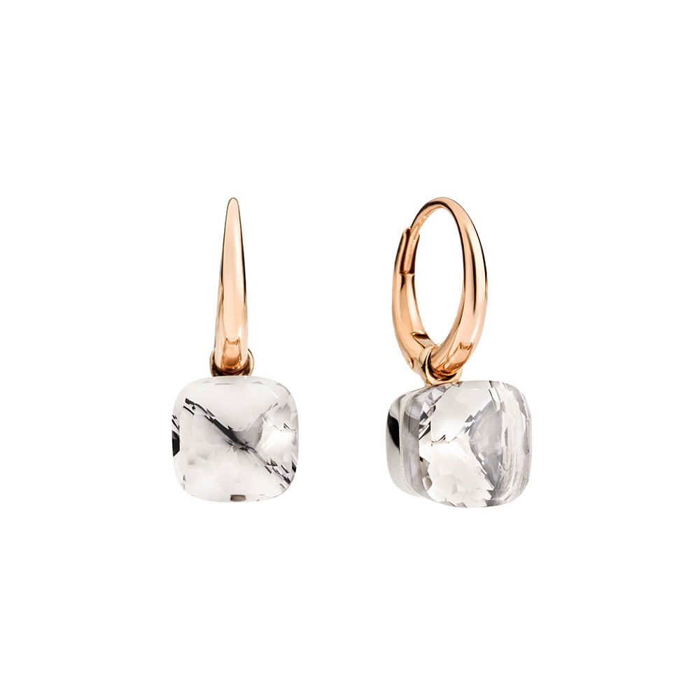 "Small White Topaz ""Nudo"" Earrings"