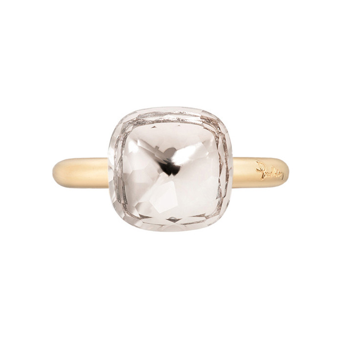 "White Topaz ""Nudo"" Ring"