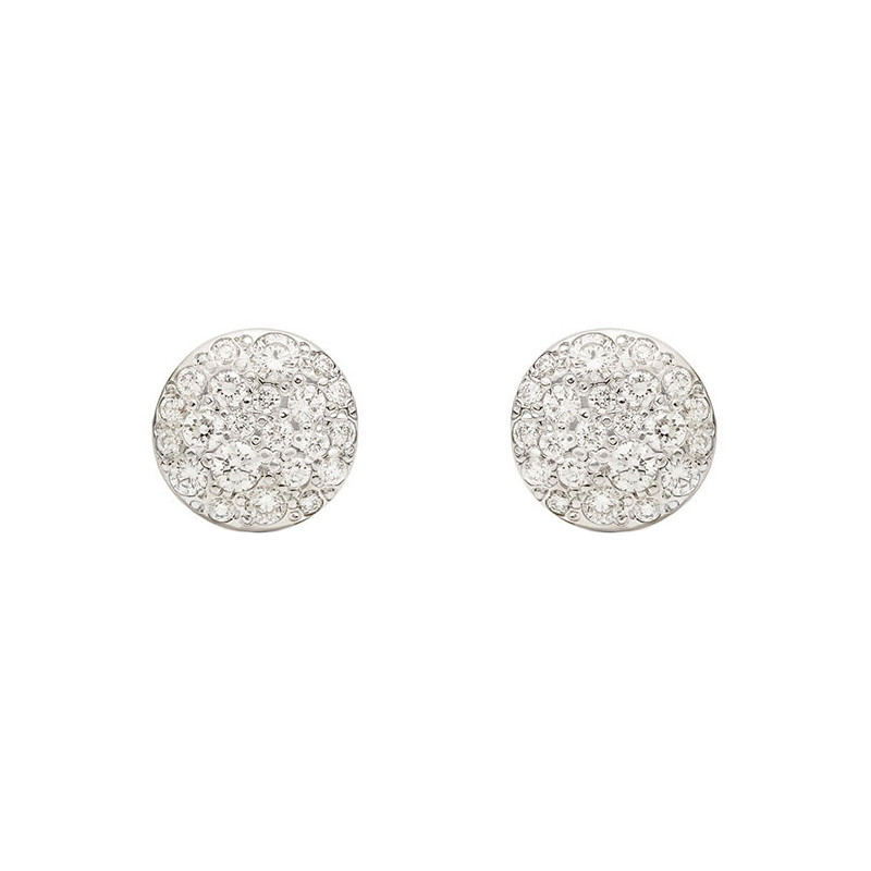 "Small Pavé Diamond ""Sabbia"" Stud Earrings"