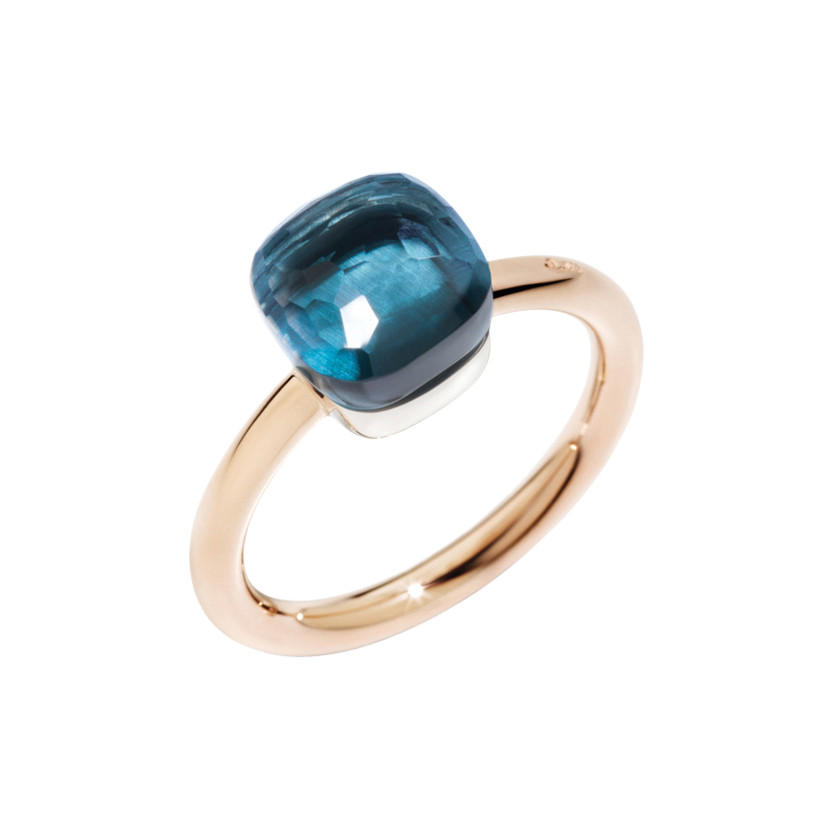 Petit London Blue Topaz Nudo Ring
