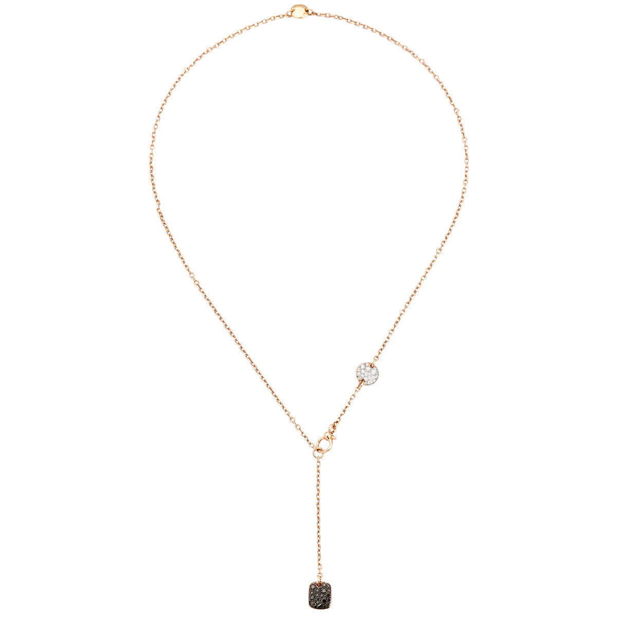 "Brown, Black & White Diamond ""Sabbia"" Lariat"
