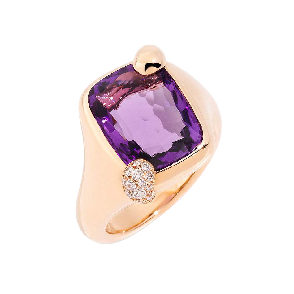 "Small Amethyst ""Ritratto"" Ring"