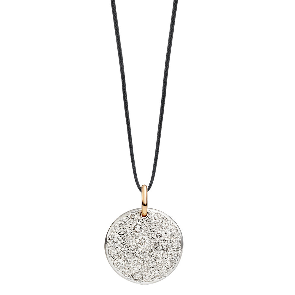"White Diamond ""Sabbia"" Disc Pendant"
