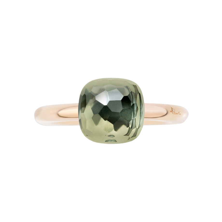 "Small Prasiolite ""Nudo"" Ring"