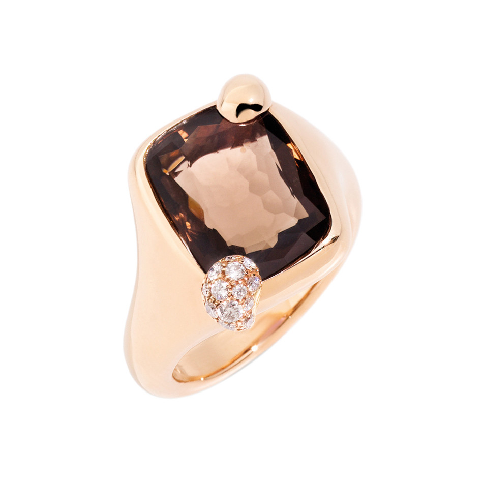 "Small Smoky Quartz ""Ritratto"" Ring"