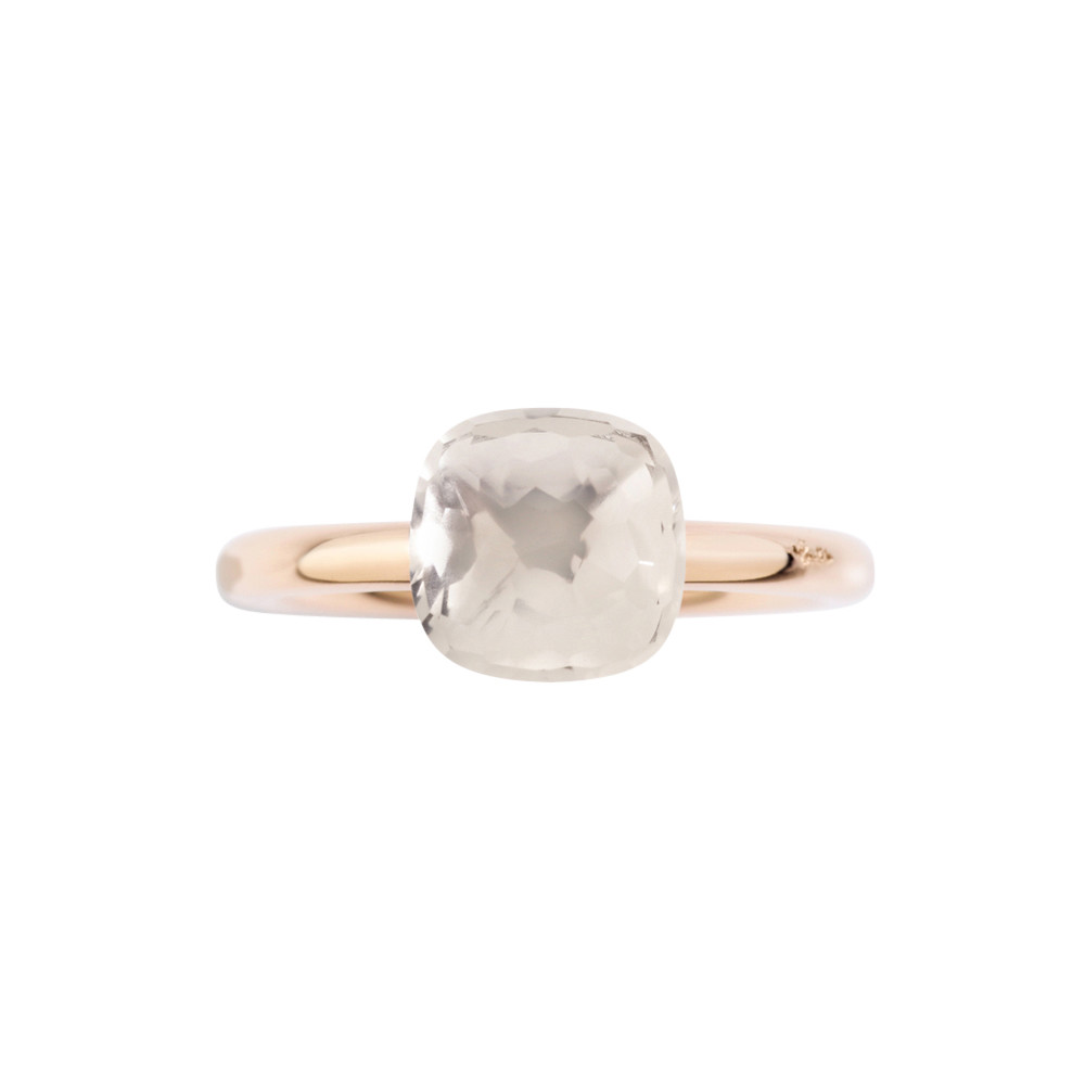 Petit White Topaz Nudo Ring