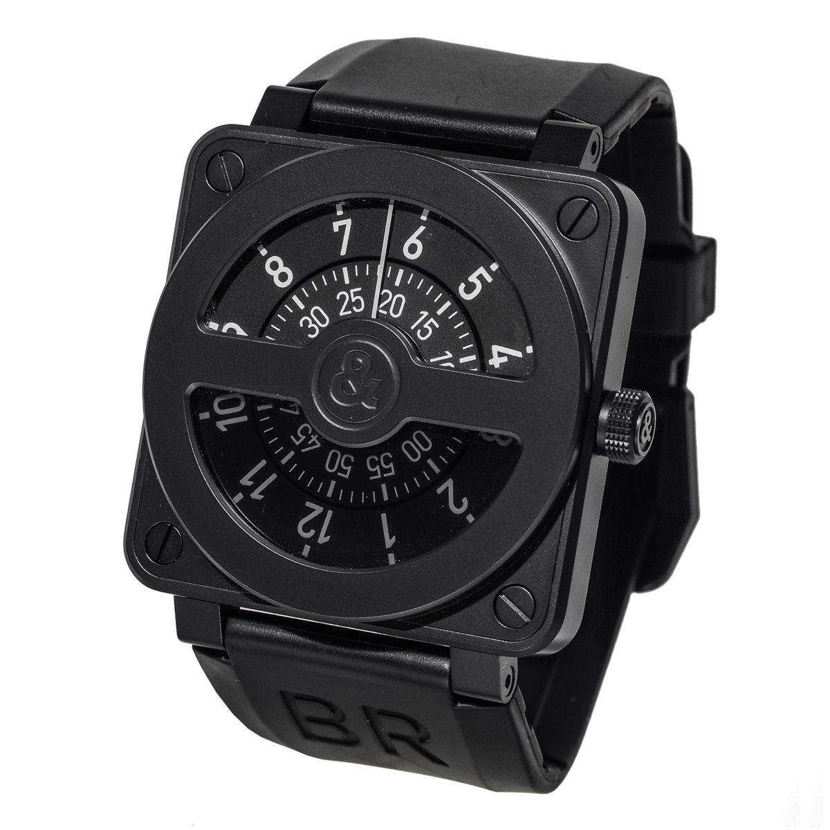 BR 01-92 Compass Black PVD Steel