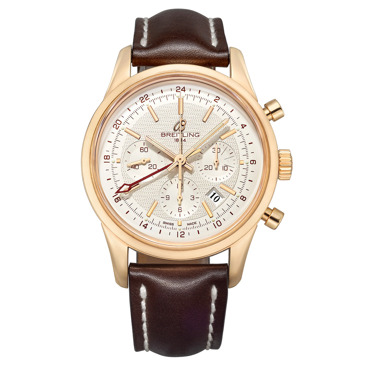 Transocean Chronograph GMT Rose Gold (RB045112/G773)