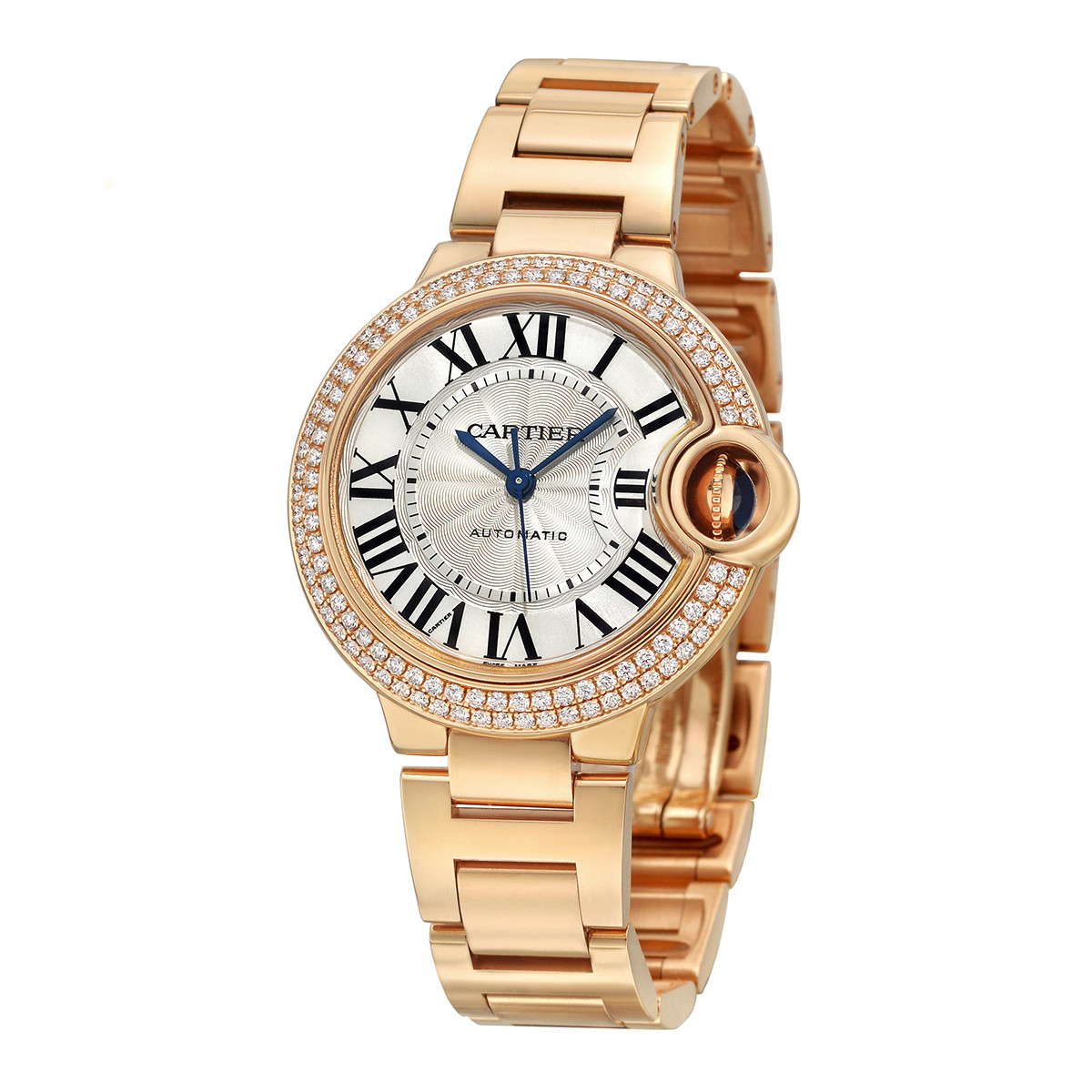 Ballon Bleu 33mm Rose Gold & Diamond (WE902064)
