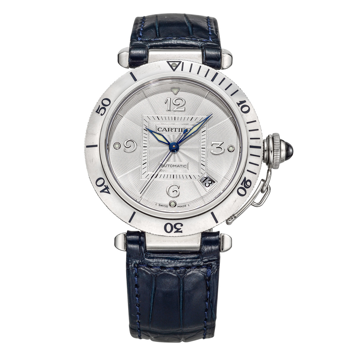 Pasha Dual Time 38 White Gold (2353)