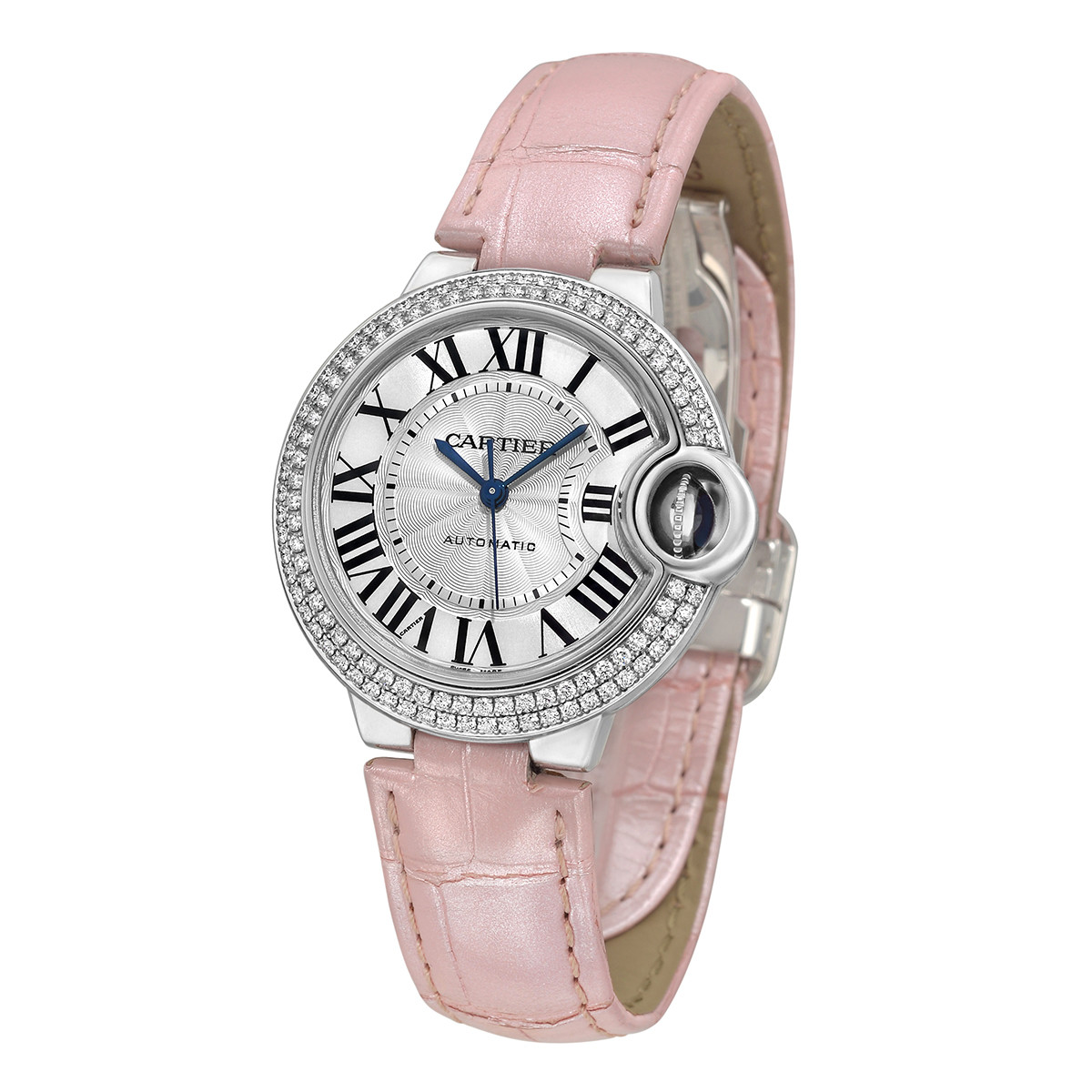 Ballon Bleu 33mm White Gold & Diamond (WE902037)