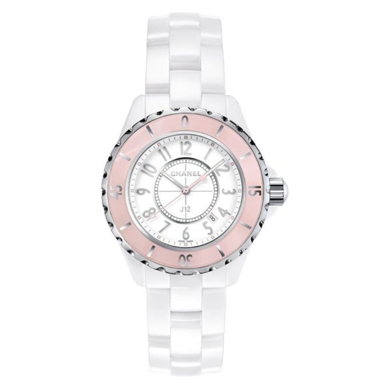 "J12 33mm ""Soft Rose"" White Ceramic (H4467)"