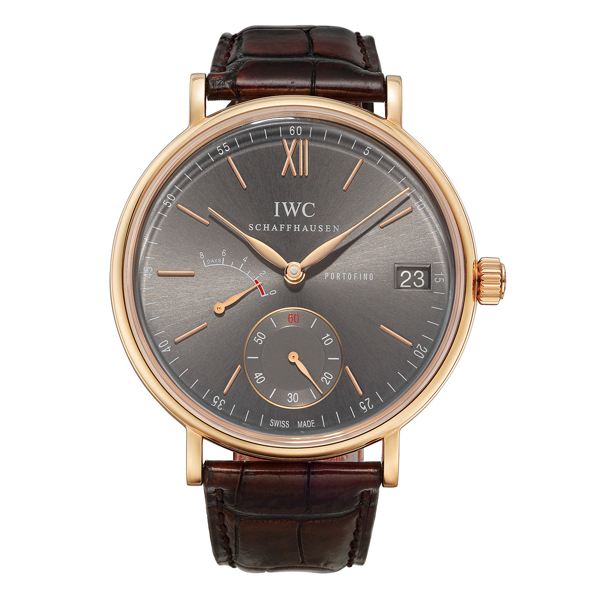 Portofino Hand-Wound 8-Days Rose Gold (IW510104)