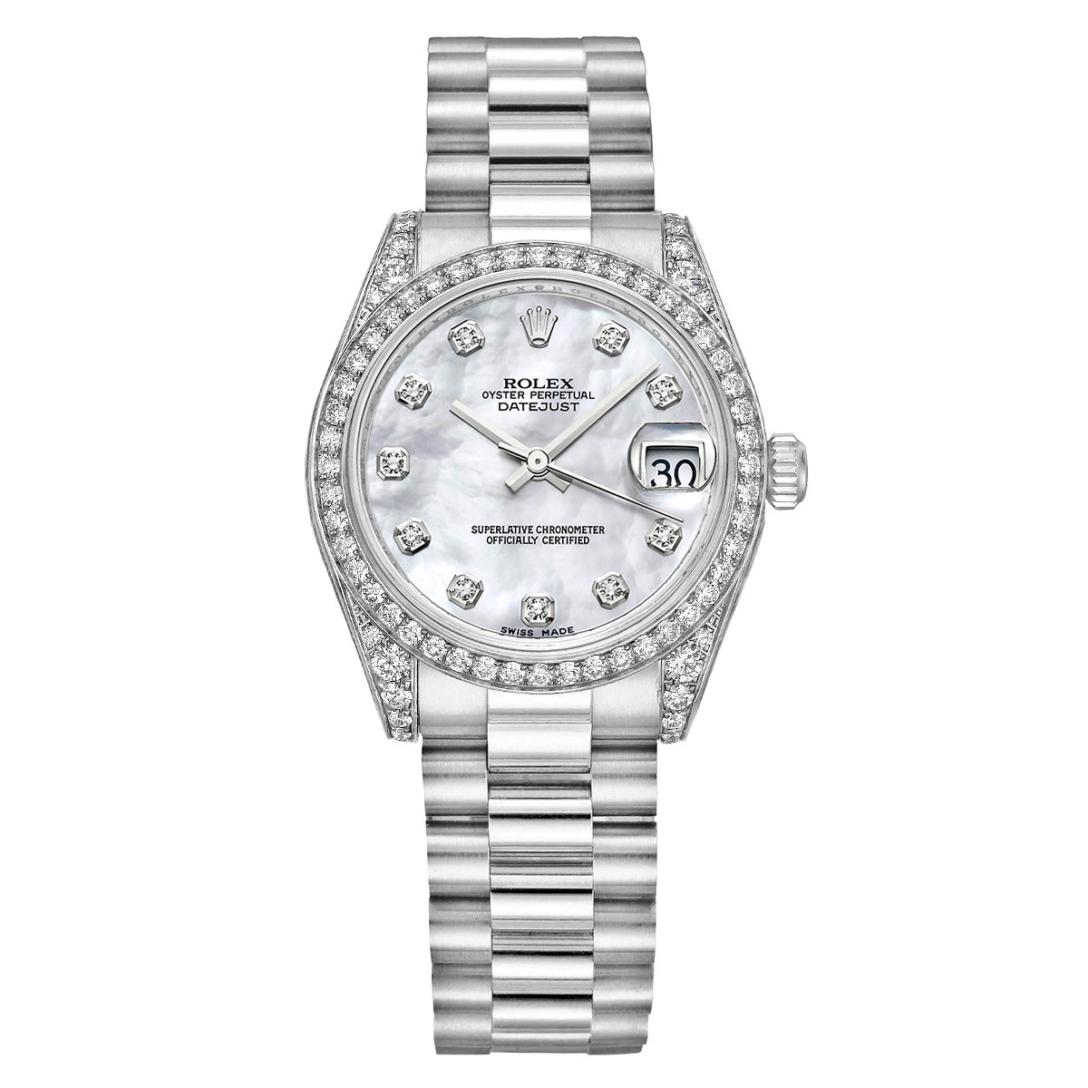 Datejust 31 White Gold & Diamonds (178159)