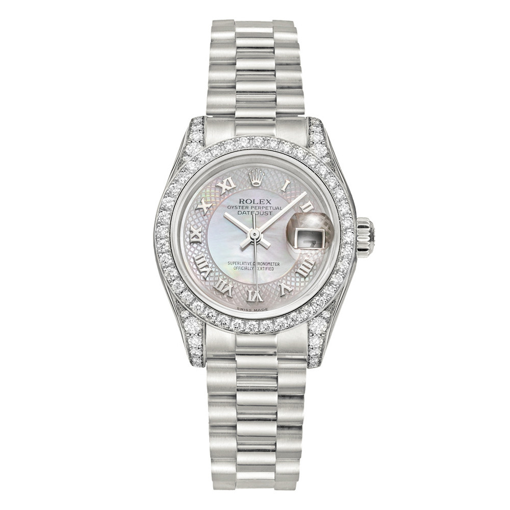 Lady-Datejust 26 White Gold & Diamonds (179159)