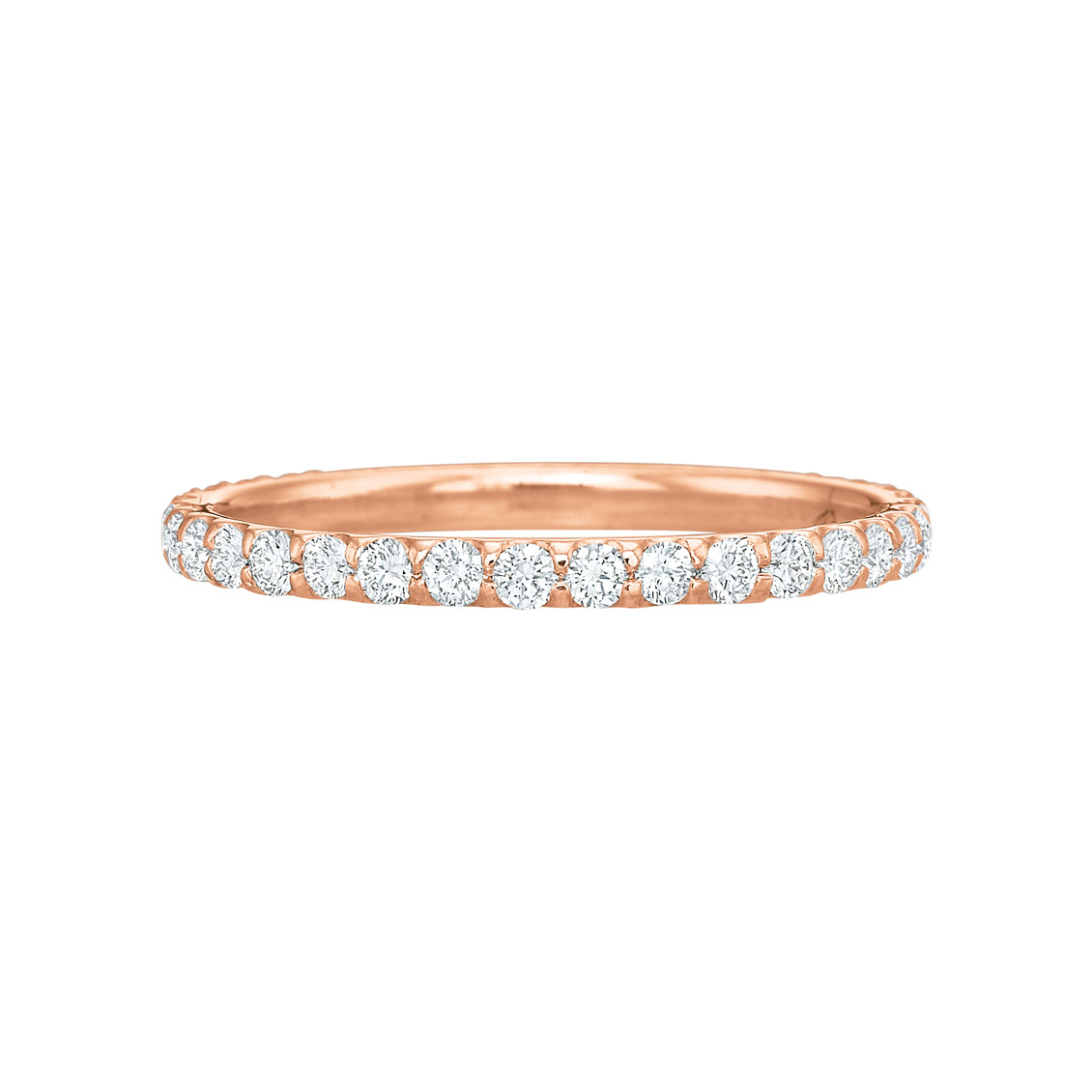 18k Rose Gold & Round Brilliant Diamond Eternity Band (0.50ct tw)