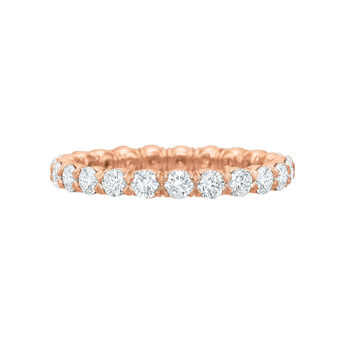 18k Rose Gold & Round Brilliant Diamond Eternity Band (1.20ct tw)