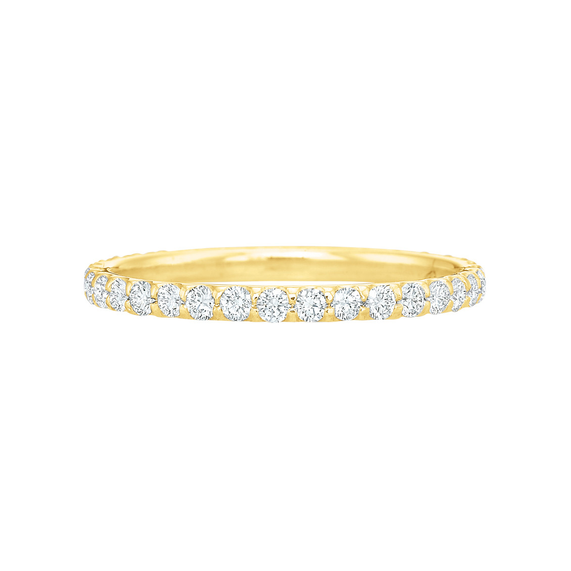 18k Yellow Gold & Round Brilliant Diamond Eternity Band (0.50ct tw)