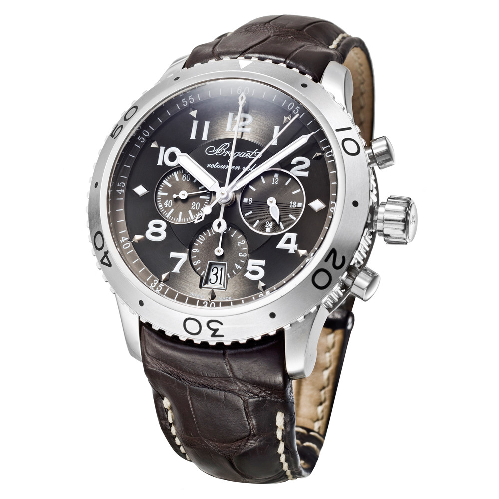 brand new 585c8 423bc Pre-Owned Breguet Type XXI Chronograph Automatic Steel ...
