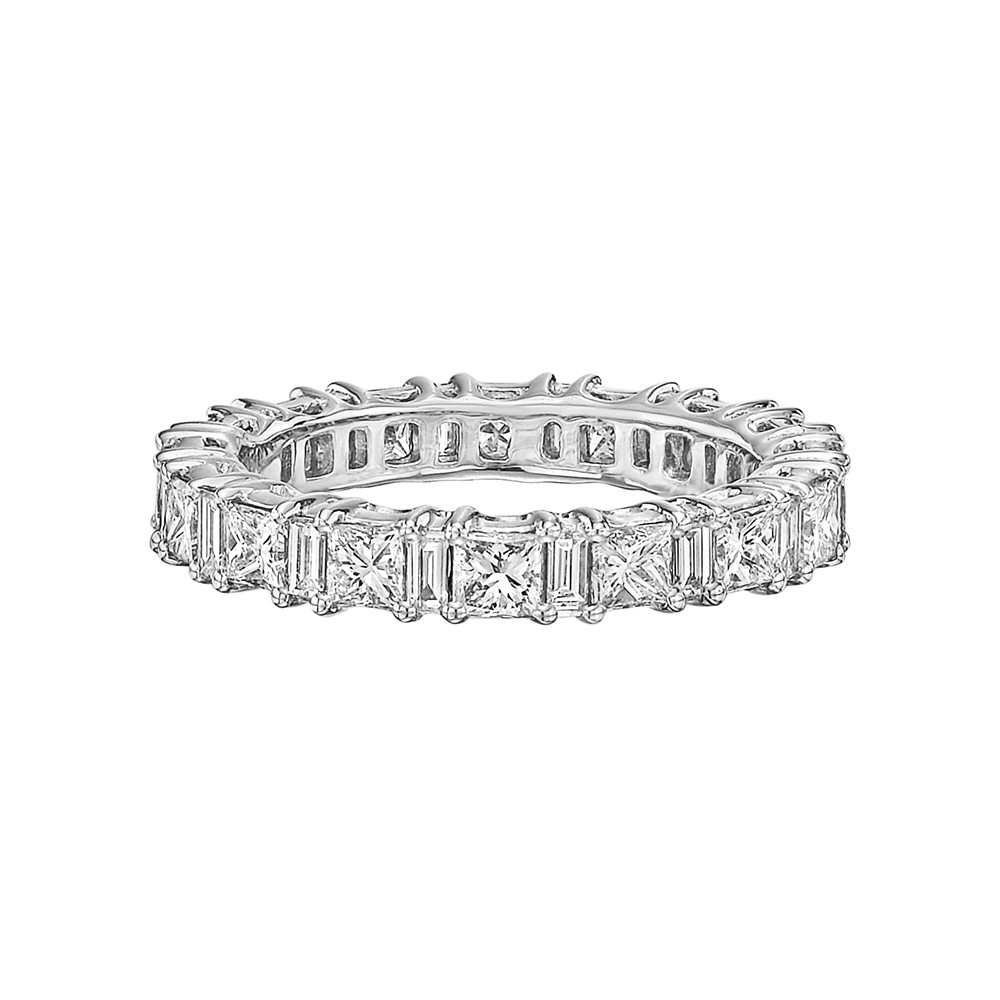 Princess & Baguette Diamond Eternity Band (2.20 ct tw)