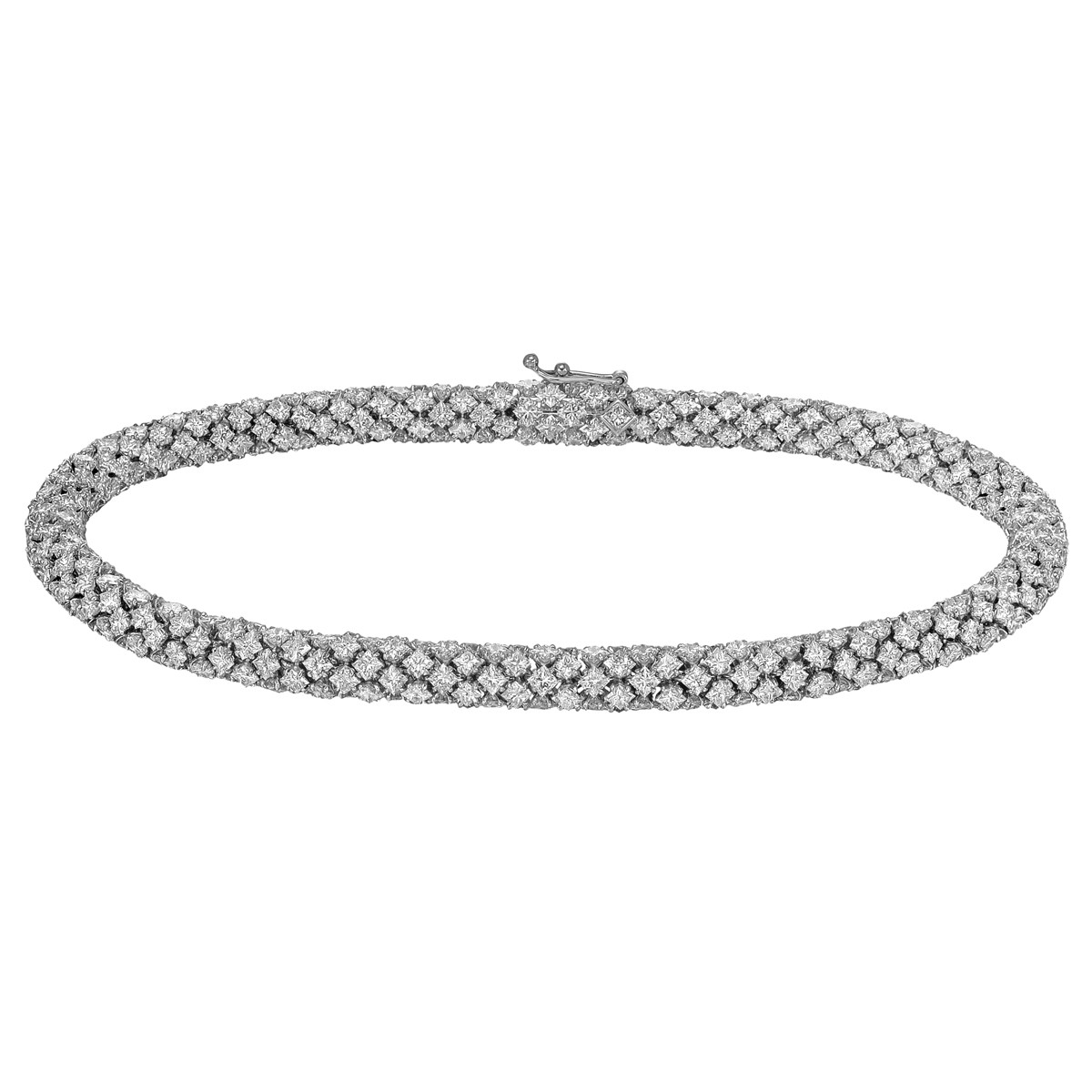 "Princess-Cut Diamond ""Slinky"" Bracelet (11.16 ct tw)"