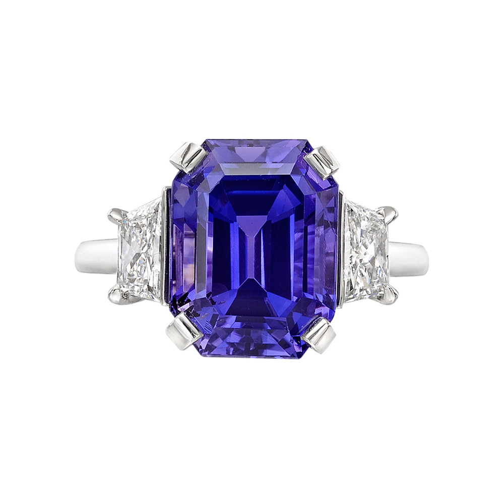 Betteridge 8 54 Carat Purple Sapphire Amp Diamond Ring
