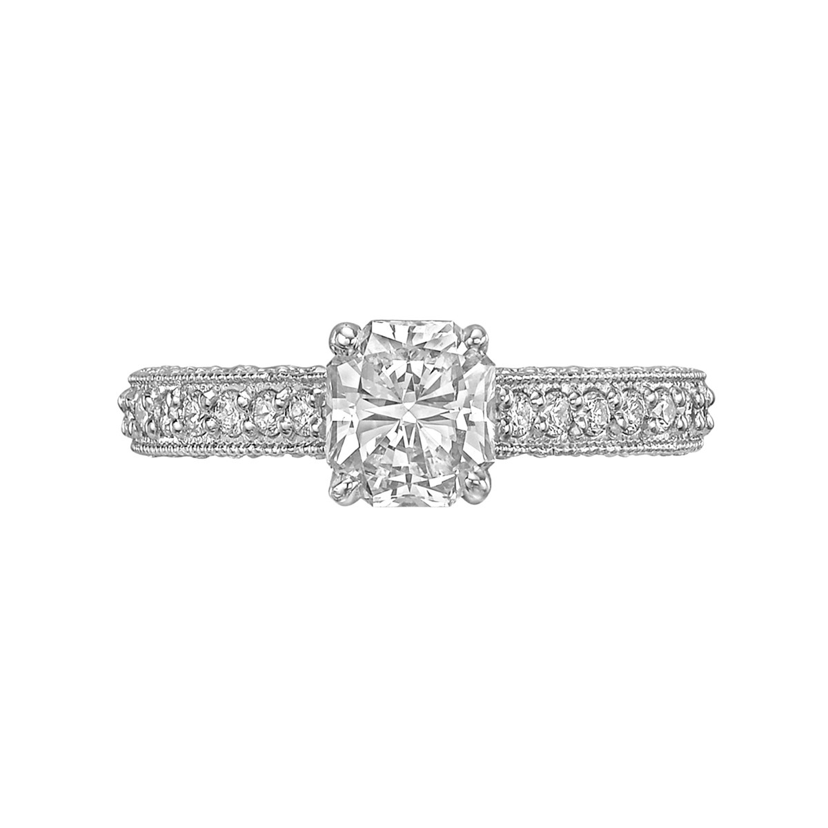 1.06ct Colorless Radiant-Cut Diamond Ring