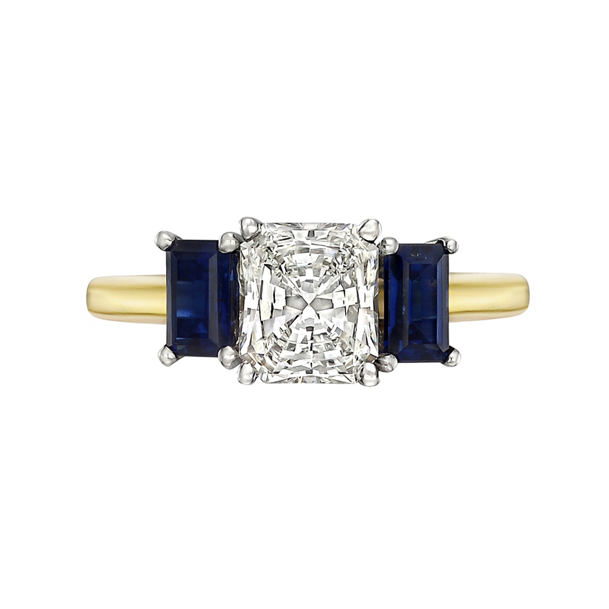 1.13ct Radiant-Cut Diamond Ring (I/VS1)