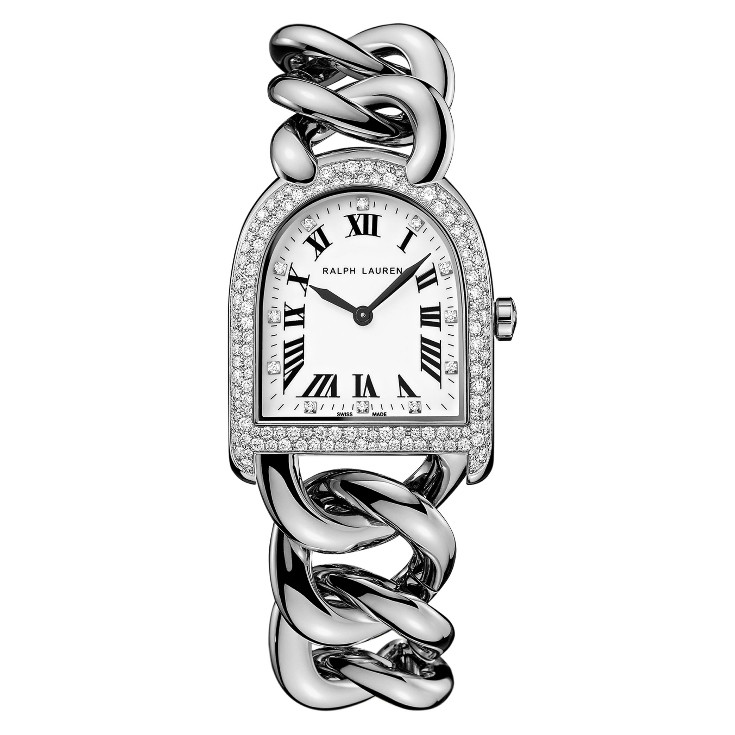 Stirrup Petite-Link Steel & Diamonds (RLR0040002)
