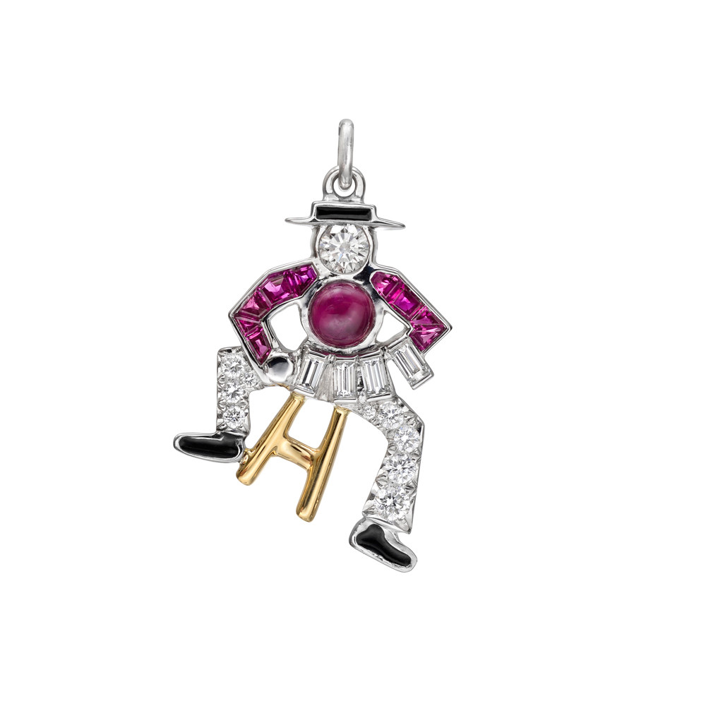 Ruby & Diamond Accordion Player Charm
