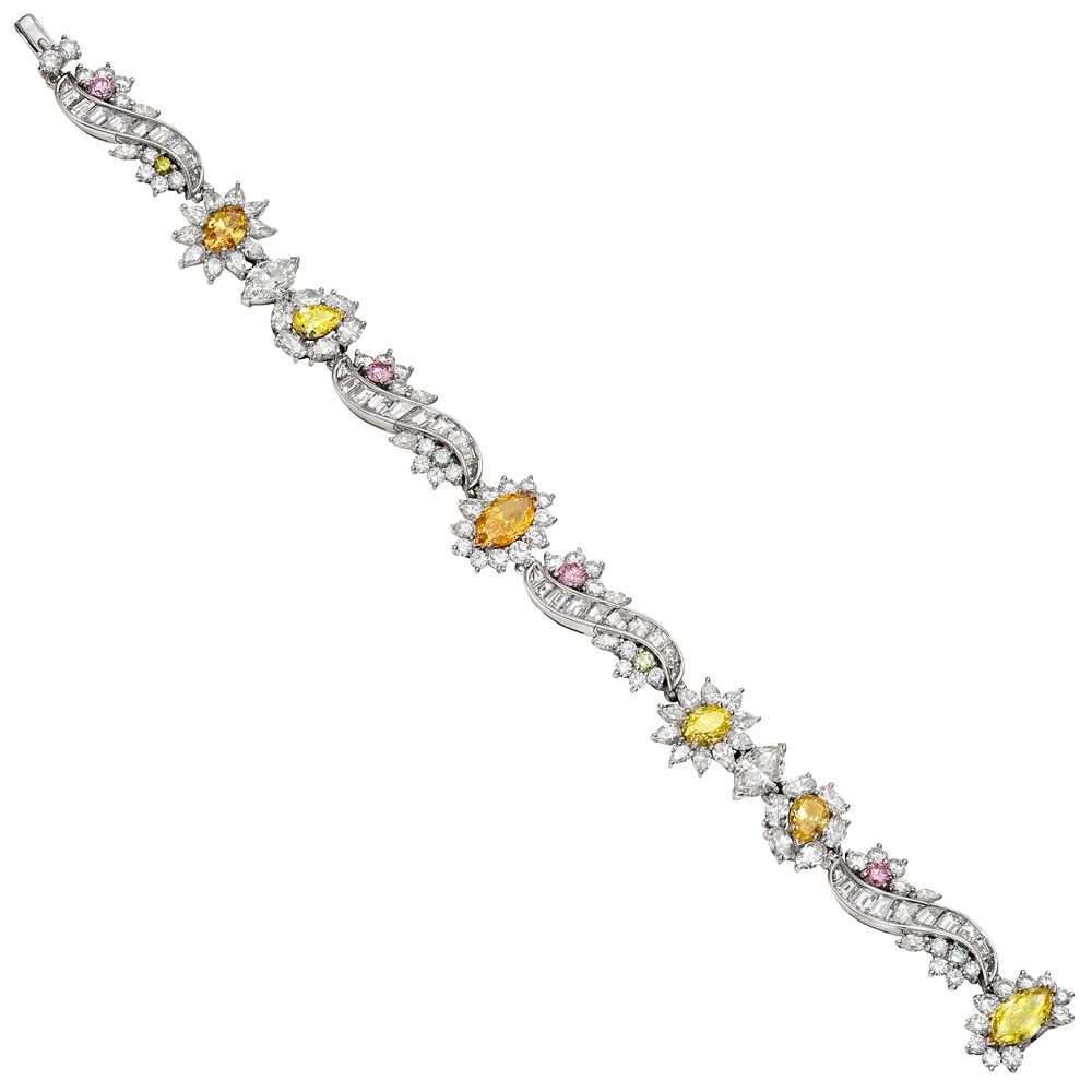 Multicolored Diamond Bracelet