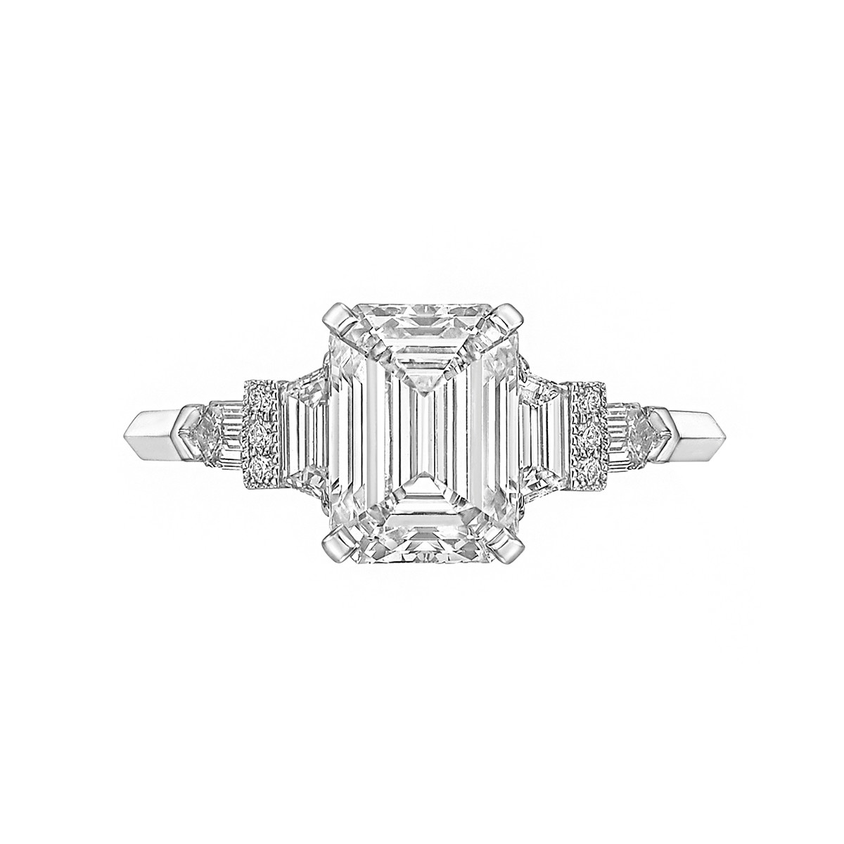 2.09ct Emerald-Cut Diamond Ring (G/VVS2)