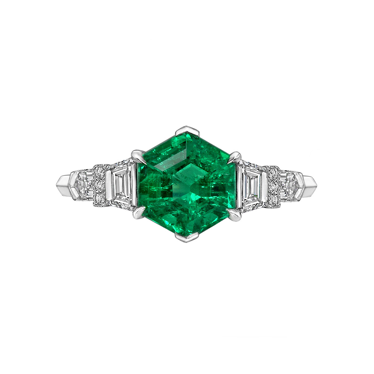 1.65ct Colombian Emerald & Diamond Ring