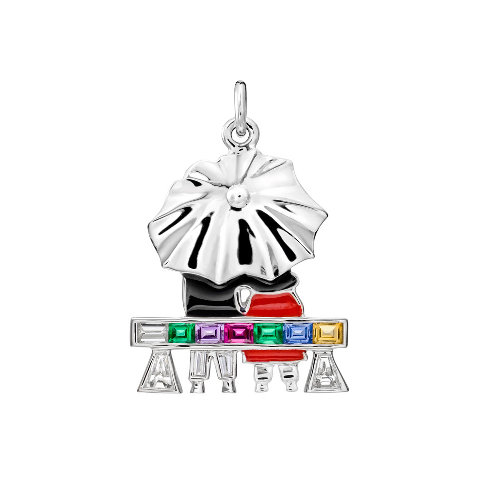 "Gem-Set ""Couple on a Park Bench"" Charm"