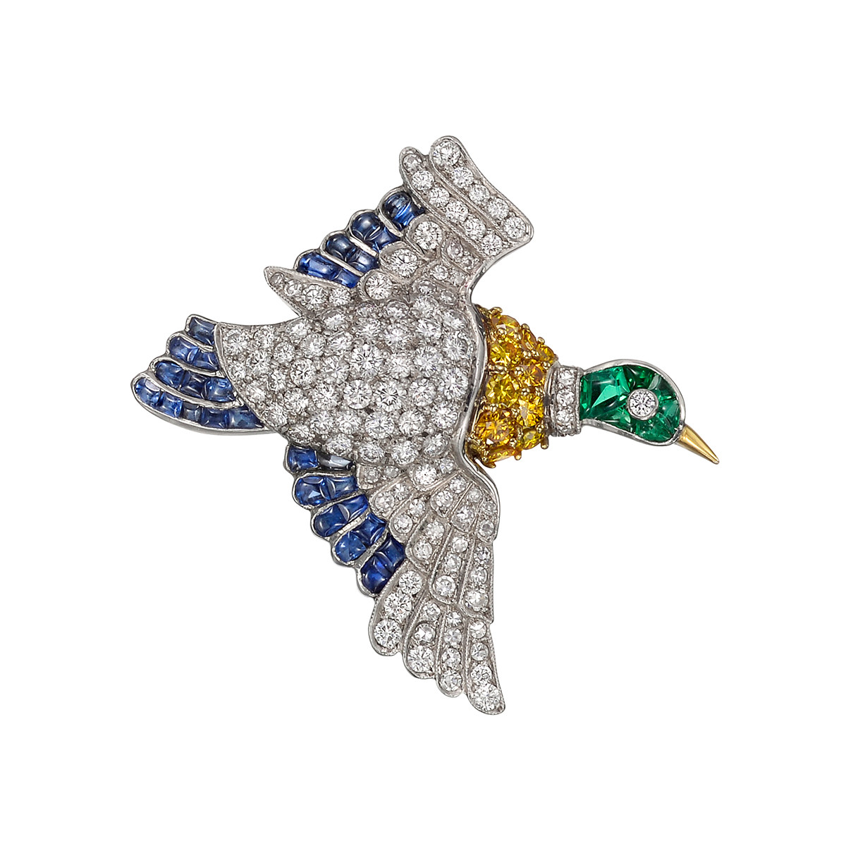 Gem-Set Duck Pin