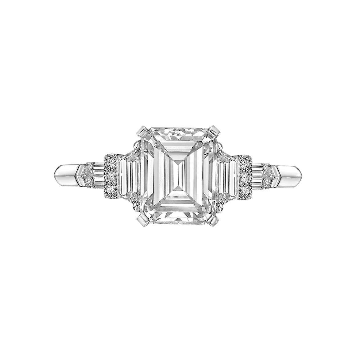 1.61 Carat Emerald-Cut Diamond Ring