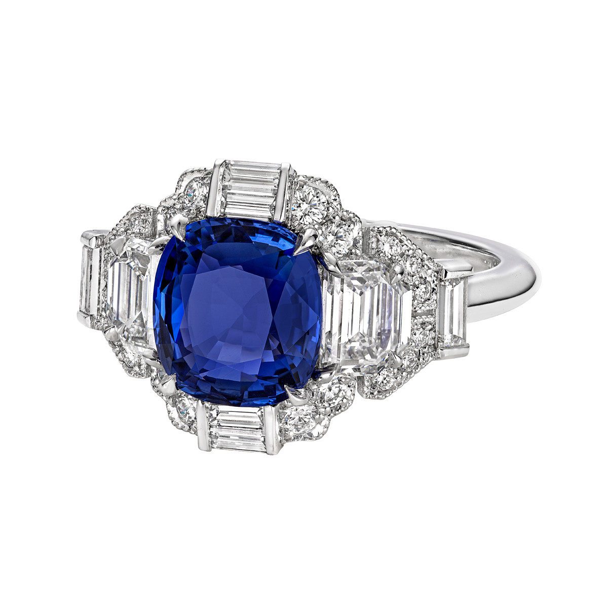 2.44ct No-Heat Sapphire & Diamond Ring