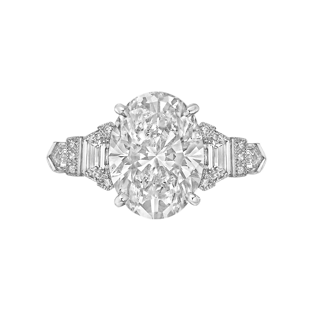 4.01 Carat Oval Brilliant Diamond Ring
