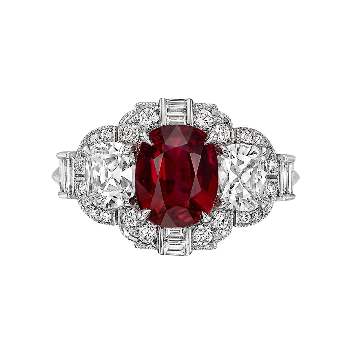 2.02 Carat Ruby & Diamond Ring