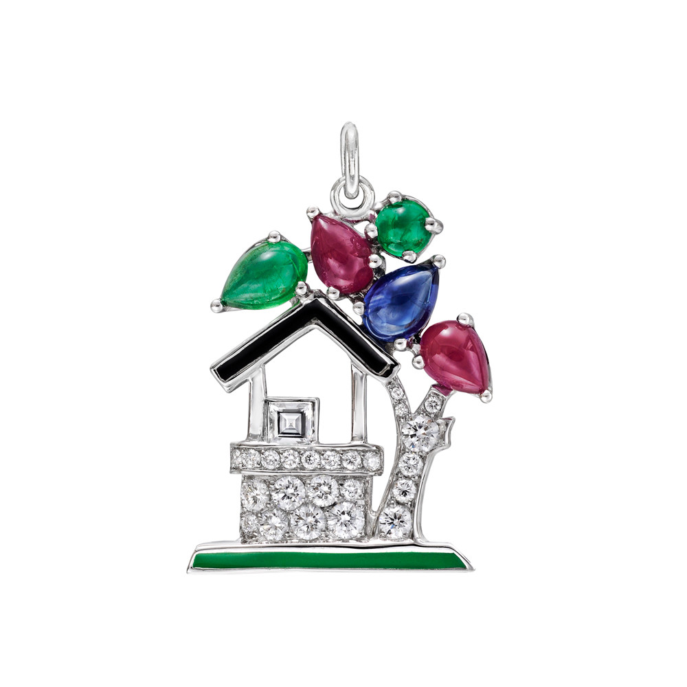 "Gem-Set ""Wishing Well"" Charm"