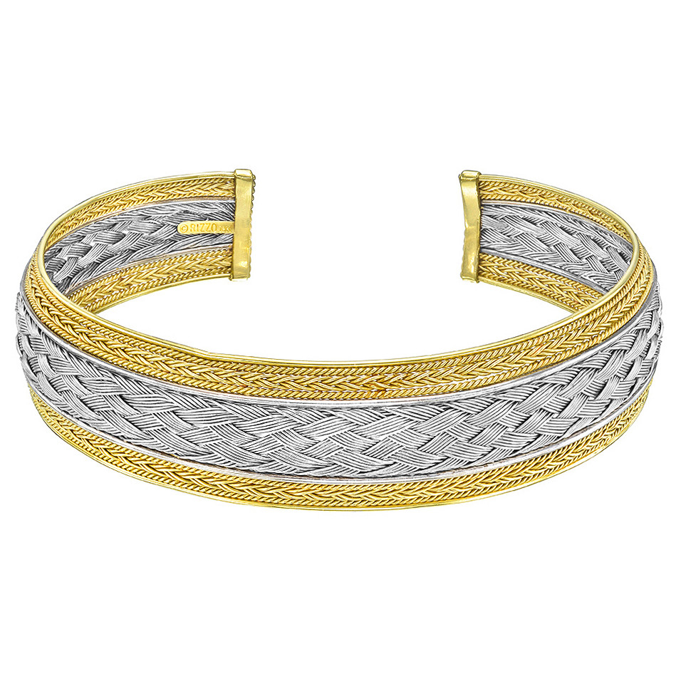 Rizzo 18k White & Yellow Gold Collar Necklace