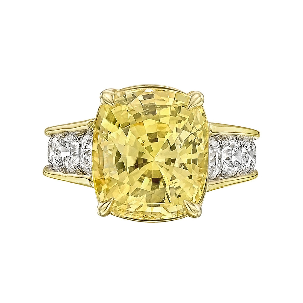 10.58ct Yellow Sapphire & Diamond Ring