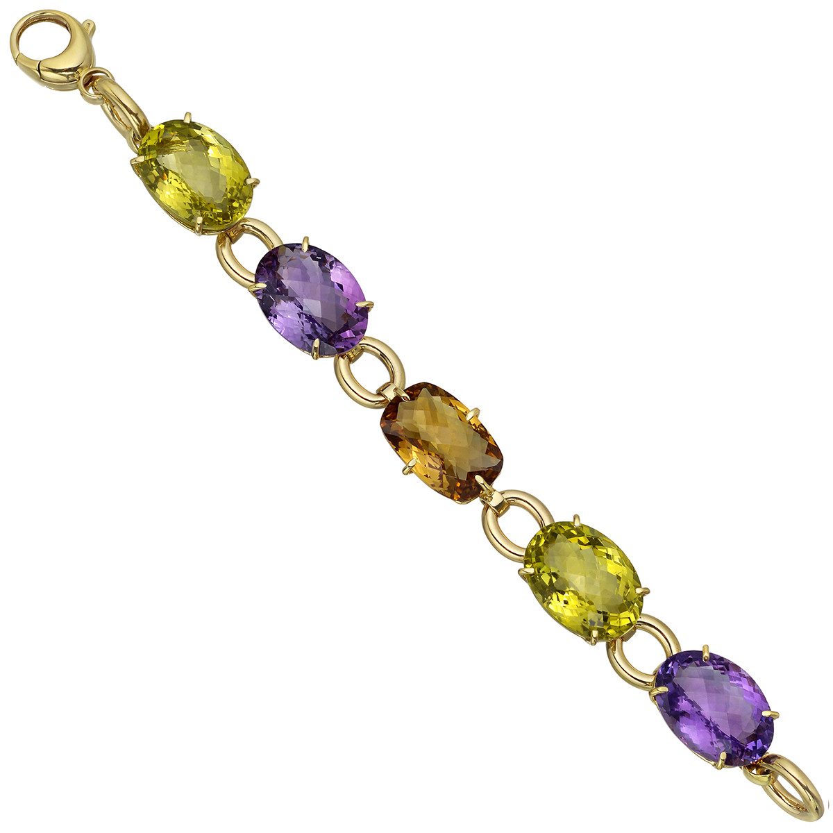 "18k Gold Gem-Set ""Ipanema"" Link Bracelet"