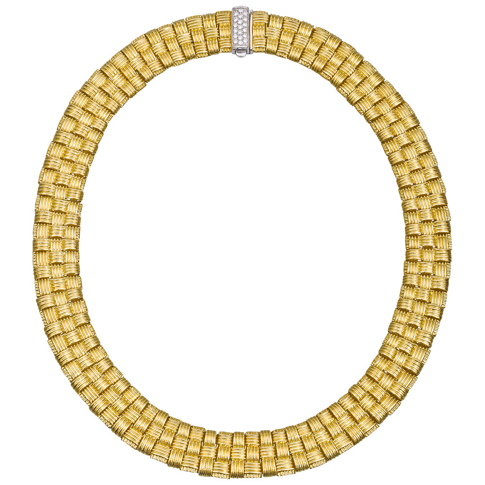 Roberto Coin Yellow Gold Appassionata Collar Necklace