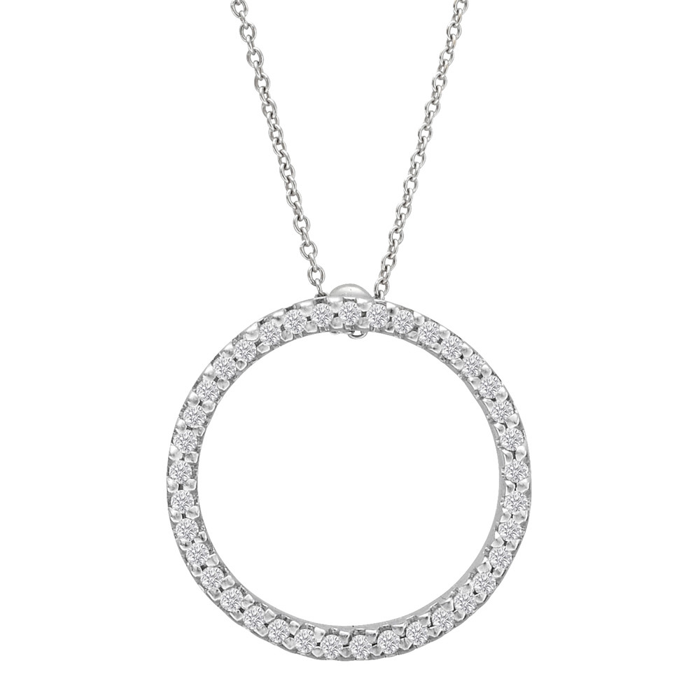 "Medium Diamond ""Circle of Life"" Pendant (~0.43 ct tw)"