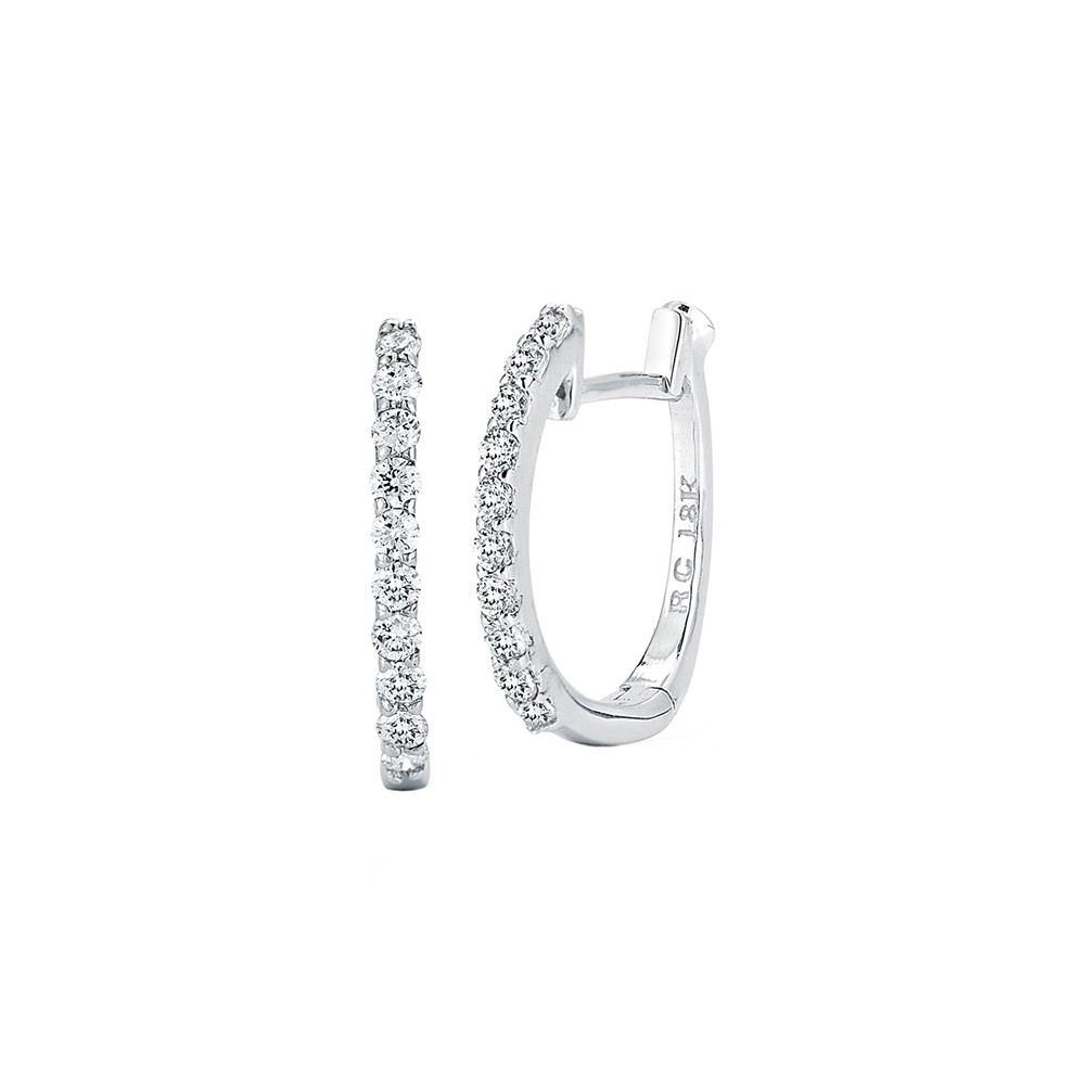 Small Diamond Hoop Earrings (~0.2 ct tw)