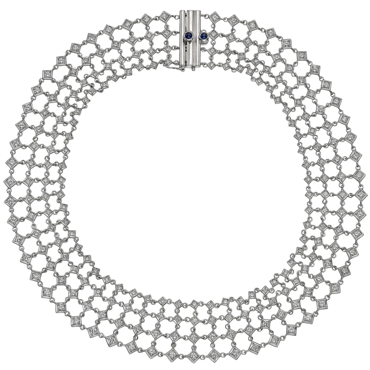 Diamond 'Fantasia' Lattice Collar Necklace