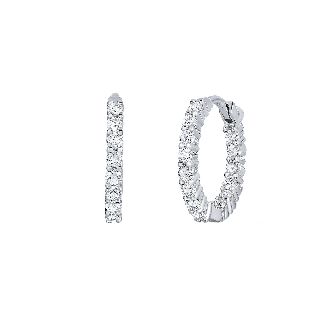 Small Diamond Hoop Earrings (0.75ct tw)